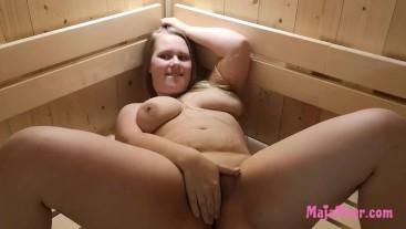 BBW Teen Maja Meer gets fucked in the sauna