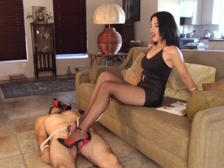 Long Suffering Foot Tease Preview – Femdom – Young Goddess Kim
