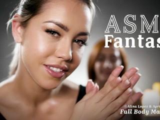 ASMR Roleplay Fantasy- Full Body Lesbian Massage- Alina Lopez