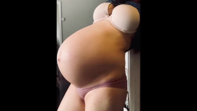 Bambi from porn week - Just a look at my 39 week belly