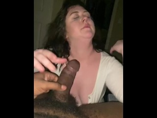 thick brunette college slut loves fucking bbc raw