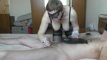 Maid brought me coffee and lick my nipples, I cum hands free (3 cameras)