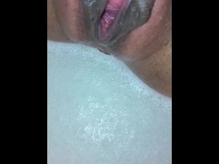 I love taking a bath with my favorite vibrator and squirting