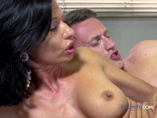 Best massage ever by French brunette Bettina Cox