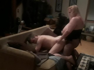 Wife fucks my ass good with a hard pegging