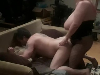 I love when she slams my ass hard with her strapon cock.