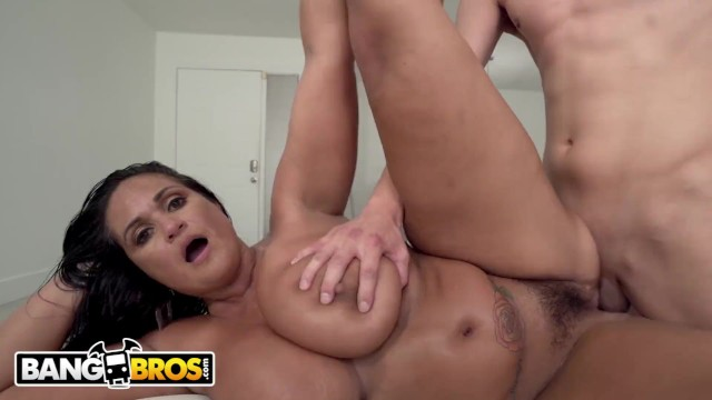 Want my penis back - Bangbros - busty cougar maid kailani kai on her back getting pounded