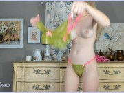 Bra and Panty Try-On Julie Snow Cam Girl *NEW 2020*