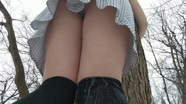 Anal fissure tea tree - Girl tied to tree wets her panties and stockings