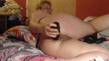 Pussy fist and squirt, big dildo anal play, ride, gape