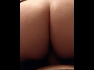 POV Your Bitch with a  big ass loves to ride strapon orgasm finish