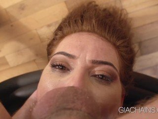 Gia Chains First Time Scene: Rough DP Threesome with Mugur and Dominic Ross