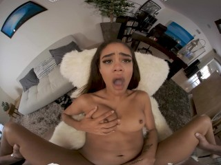 VR BANGERS Valentine's Day Bang With Young And Horny Ebony Boss VR Porn