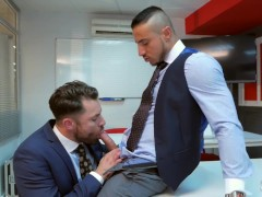 His Boss Punish Him With His Massive Cock