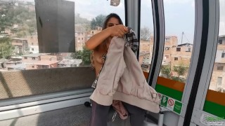 Colombia tour edition - Flashing and playing with my hitachi in Medellín
