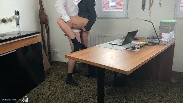Business sexy suit woman Business woman gets lunch break sex ends with huge cumshot