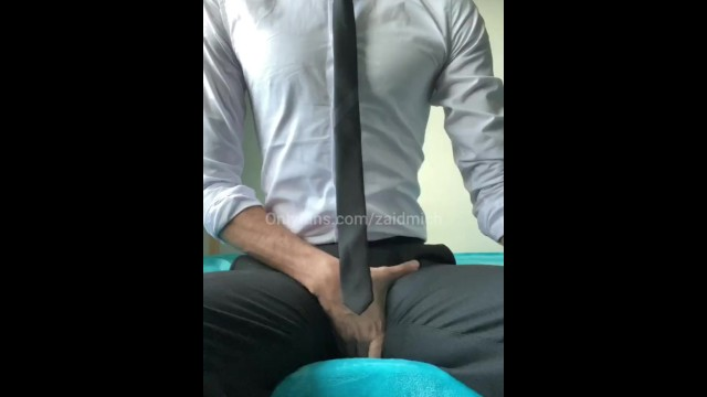 Dicks catchers mitt - Horny man in suit huge dick cumshot