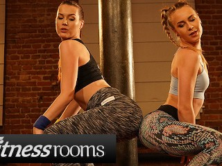 Redhead Red Flexible video: Fitness Rooms Flexible lesbian Alecia Fox and redhead Charlie Red twerk