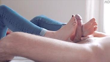 Just fuck my feet - Teen Perfect Footjob & Solejob