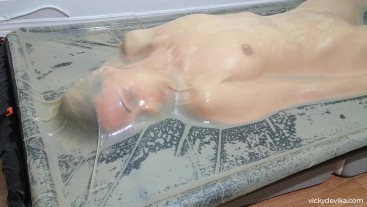 Sealed for 7 minutes (Clear Latex Vacbed)