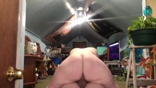 bbw pawg twerks on huge cock