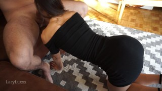 Tiny fitness girl gave me THE BEST SLOPPY BJ EVER
