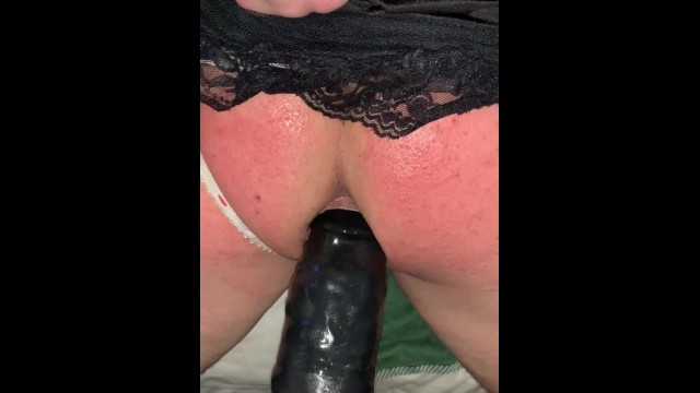 Crossdressing humiliation porn - Tied up tiny penis sissy humiliated, spanked and fucked by big black dildo