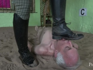 Dirty Boots for Sniffer – Humiliating Punishment by Gorgeous Vivienne