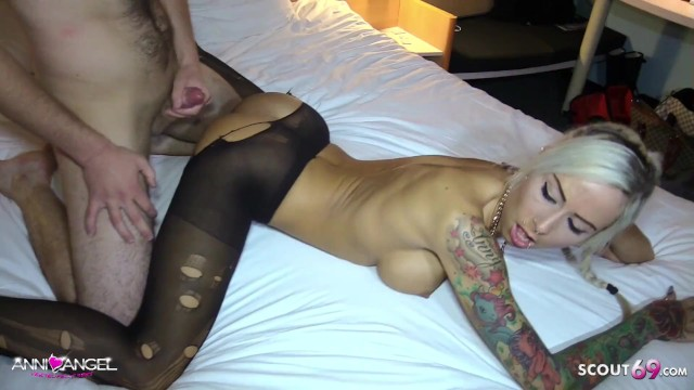 Pussy german - German client condom off and cum on pussy by german hooker