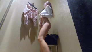 Hidden camera fitting room – girl showed pussy and big Breasts