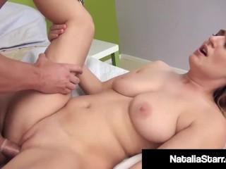 Skinny cock sucker milks cock after hard fuck