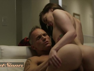 Sweet Sinner – Brunette stepdaughter Gia Paige loves daddy