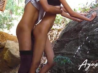sri lankan faculty bitch fucked by stranger public out of doors intercourse scene එලියෙම