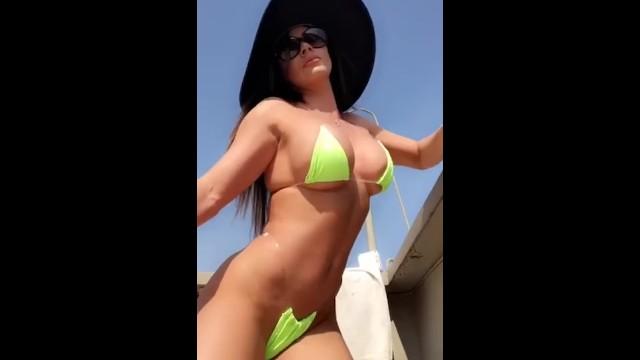 Bathing bottom suit - Esperanza gomez body in bathing suit, sexy tanning