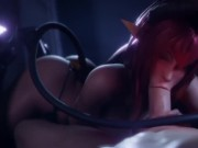 Horny 3d girl not leaving my dick. realistic 3d porn