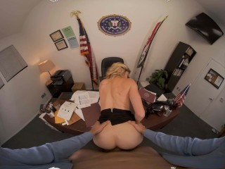 VR BANGERS Determined Hot FBI Agent  You With Her Wet Pussy VR Porn