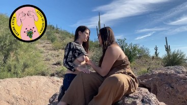 Public Outdoor Girl Girl Makeout and Flashing - SmilesofSally & FitSid