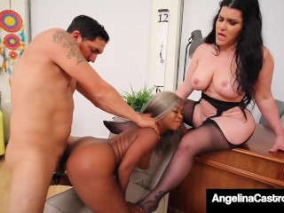 Phat Ass Angelina Castro & Harmonie Marquis Share Some Dick!