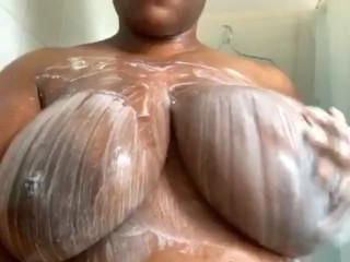 Help Me Soap My Huge Boobs In The Shower