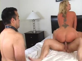 Cuckold creampie eating husband squirting