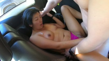 Korean Milf Finger Fucks Her Pussy To Orgasm and Lactates All Over Her Car