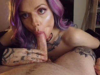 Daddy begs to fuck me while i cock...