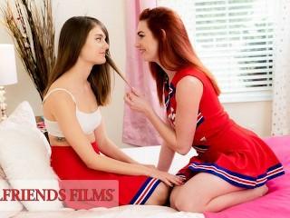 GirlfriendsFilms - Lacy Lennon Scissors Cheerleader Teammate