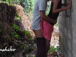 sri lankan school couple after school public outdoor leaked නැන්දගෙ දුව