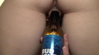 Hot Girl Fucks Bottle