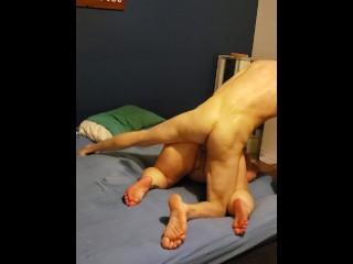 Brunette pawg fucked hard after 69 blowjob, squirts and gets stretched
