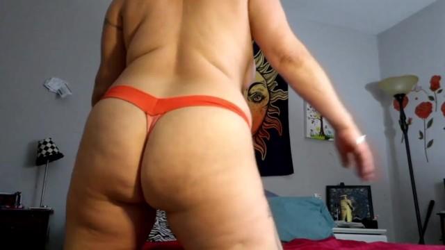 Thong ass pix Thick white girl in a thong ass shaking twerking