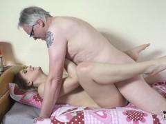 Horny Nubile Rides Grandpa Cock Then Sucks It Deepthroat