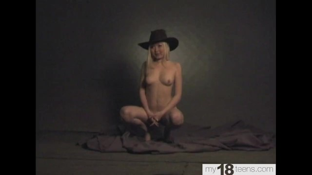 Day from nude photo yore Nude photo session of a student in a cowboy hat