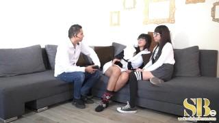 alex Marin con sus primas Mia y Yamileth